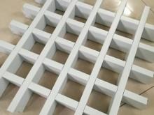 白色铝格栅 铝格栅吊顶 商场格栅吊顶